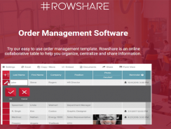 Rowshare | Order Management Software