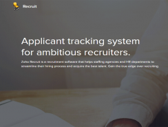 Zoho Recruit | Applicant Tracking System